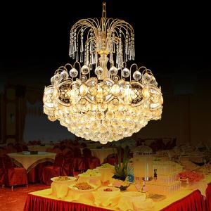 Graceful Crystal Chandelier Classic Gold Colour Pendant Light Living Room Bedroom