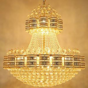 Luxury Crystal Chandelier European Large Pendant Light Dining Room Hotel Lobby