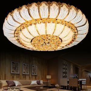 Contemporary Simple LED Flush Mount Crystal Ceiling Light Round Bedroom Living Room