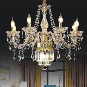 Large Crystal Chandelier European Classic Pendant Light Bedroom Living Room HQ9147
