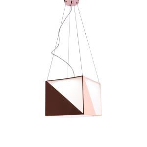 LED Multi Faceted Pendant Light Contemporary Rose Gold Decorative Lighting Office Dining Room