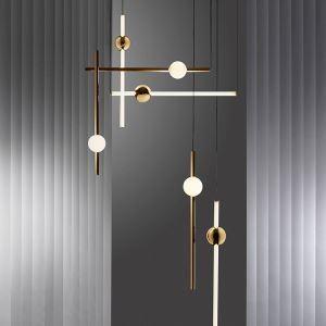 Modern LED Pendant Light Simple Vertical Horizontal Decorative Light Bedroom Living Room