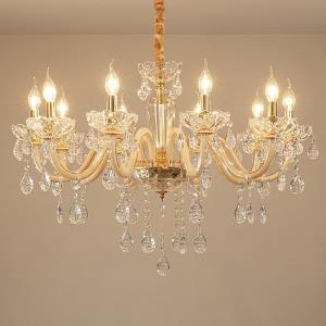 Elegant Crystal Chandelier European Style Glass Pendant Light Dining Room Bedroom HQ9145