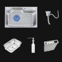 Single Bowl Stainless Steel Kitchen Sink with drainer MF7247