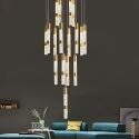 Nordic Crystal LED Pendant Light Bubble Column Pendant Light Bedroom Living Room QM-8007