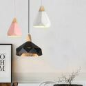 Contemporary Simple Macaron Pendant Light Colorful Aluminum Art Three Lights Living Room Office QM-3055