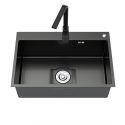 Black Nano Stainless Steel Sink Handmade Single Bowl Thicken Washing Sink
