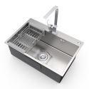 201 Stainless Steel Kitchen Sink Single Bowl Handmade Thicken Sink