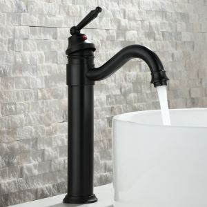 Bathroom Faucet for Sinks ORB Oil-rubbed Bronze Bathroom Single Handle Basin Tap