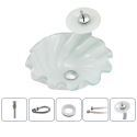 White Sink and Faucet Set Wave Shape Basin Tempered Glass Bathroom Countertop Waterfall Vessel Sink Tap BWY19-118