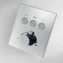 Thermostatic Concealed Shower Valve Black/Chrome Three Functions