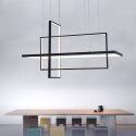 Contemporary Creative Pendant Light Rectangles Combination LED Pendant Light Office Bar Light