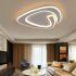 Show details for Triangle Design Flush Mount Modern Acrylic LED Flush Mount Living Room Bedroom Study lighting