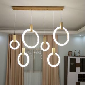 Modern Simple LED Pendant Light Acrylic Ring Lamp Bedroom Living Room Lighting QM88231