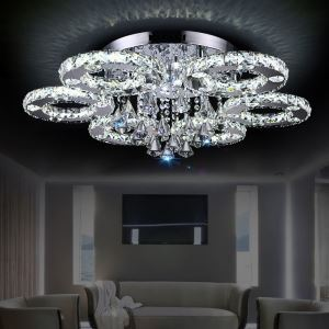 Crystal LED Flush Mount Modern Contemporary Metal Energy Saving