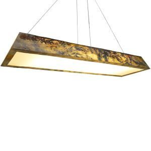 3D Natural Stone Chandelier Translucent Shade Modern Pendant Light