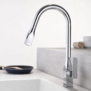 Pull-Out Kitchen Faucet Rotatable Tap Double Functions Spray Head Chrome/Black/Nickel Brushed/ORB Color Optional