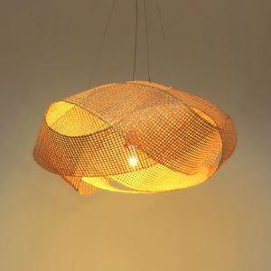 Modern Twisted Pendant Light Creative Bamboo Pendant Light Living Room Bedroom Study Lighting