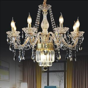 Large Crystal Chandelier European Classic Pendant Light Bedroom Living Room HQ9147