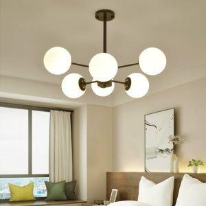 Nordic Simple Chandelier Spray Painting Pendant Light Living Room Bedroom Office Light