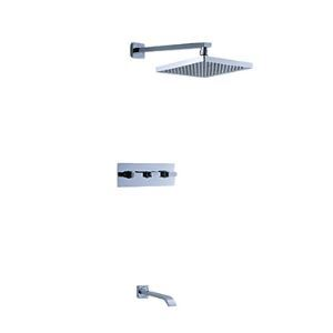 Contemporary Tub Shower Faucet with 8 inch Shower Head