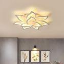 Modern Simple LED Flush Mount Acrylic Sunflower Shaped Ceiling Light Living Room Office 9016