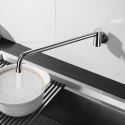 3 Compartment Sink Faucet Commercial Wall Mounted Kitchen Tap Single Hole