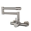 Stainless Steel Pot Filler Faucet Wall Mounted Kitchen Sink Tap