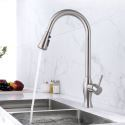 Pull-out Kitchen Faucet Stainless Steel Nickel Brushed Sink Tap Mixer