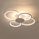 Modern Simple LED Flush Mount Acrylic Ring Ceiling Light Living Room Dining Room