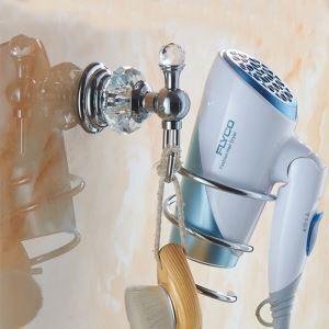 European Style Crystal Hair Dryer Holder Wall Mounted Holder BJL-16621