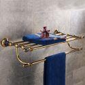 European Copper Bathroom Shelf Retro Style Towel Shelf BJL5512