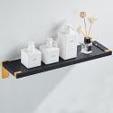 Modern Simple Black Bath Shelf Thicken Aluminum Alloy Bathroom Accessory