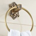 European Style Copper Towel Ring Retro Carving Gold Towel Ring Holder BL-C6005F