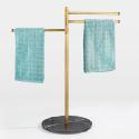 European Floor Standing Towel Rack Movable Bathroom Towel Hanger LD011