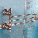 European Style Copper Towel Bar Rose Gold Movable Towel Rack BJL5516