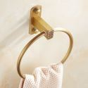 European Copper Towel Ring Antique Style Punch Free Installation BL-C8005F