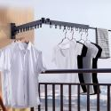 Folding Clothes Hanger Wall Mounted Outdoor Clothes Drying Rack