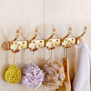 European Style Gold Robe Hook Bathroom Row Hook BJL-6869