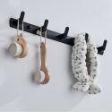 Modern Robe Hook Bathroom Simple Row Hook