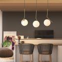Glass Ball Light Fixture for Kitchen Island Bedroom Living Room CD2212