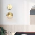 Nordic Brass Wall Lamp Round Sconce Light Bedroom Living Room B2215