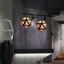 Geometric Pendant Light Diamond Shaped 3D Translucent Design