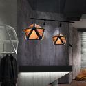 Modern Diamond Shaped Pendant Light 3D Translucent Design Restaurant Living Room Light Fixture