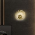 Nordic LED Brass Wall Lamp Hollow out Round Shape Sconce Light Bedroom Living Room B5503