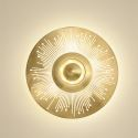 Nordic LED Brass Wall Lamp Hollow out Round Shape Sconce Light Bedroom Living Room B5505