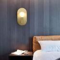 Nordic Brass Wall Lamp Unique Single Head Sconce Bedroom Living Room B5518