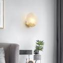 Nordic Brass Wall Lamp Round Resin Sconce Light Bedroom Living Room B5517
