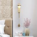 Nordic LED Brass Wall Lamp Single Head Sconce Bedroom Living Room B5529