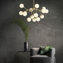 Nordic Brass Pendant Lamp Magic Bean Glass Ball Lamp Study Living Room D036